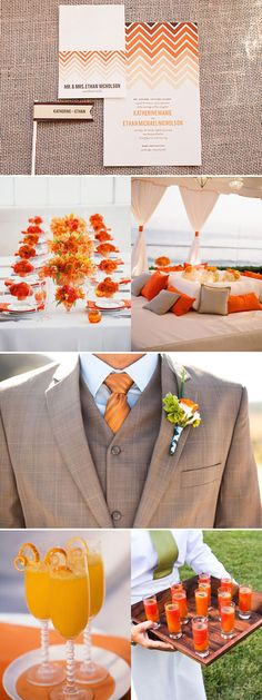 Orange wedding inspiration