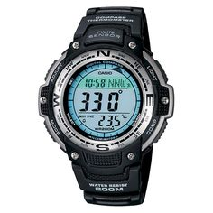 Men's Casio Digital Compass Twin Sensor Sport Watch - Black (SGW100-1V), Size: Large