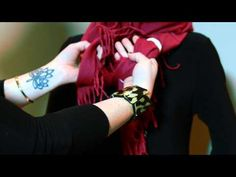 How to Tie Scarf Ring - All Around Knot