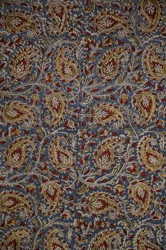 Kalamkari Block prints on fine cotton, with a mix of floral and striped patterns in earthen hues. Time to design your dresses, the way you like it ! Flower Patterns, Print Patterns, Ajrakh Prints, Kalamkari Fabric, Embroidery Suits Design, Indian Textiles, Balcony Design, Fabric Shop, Block Prints