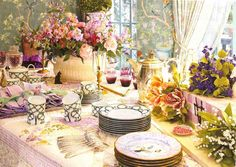 a lovely being - journal and house beautiful table scape curated by Charlotte Moss Indoor Garden Party, Garden Party Wedding, Garden Parties, Dinner Parties, Floral Centerpieces, Floral Arrangements, Centerpiece Ideas, Easter Table, Tablescapes