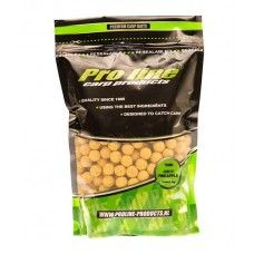 Pro Line Special Boilies Juicy Pineapple 1kg. A bait, based of the Pro Line fiber blend, in combination with the sweet juicy Pineapple flavor. An absolute winner! This bait has a bright fluor yellow color, so he stands on any type of lakebed. This bait contains a great variety of attractors, sweet, flavor enhancers and appetite stimulators. A great Bait for all seasons and on any water, it will do well! Best results, throughout the year.
