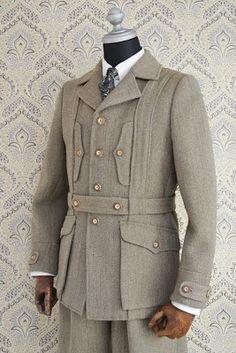 COSTUME réglable: Tweed Norfolk Veste Keeper !!