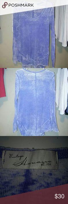 Vintage Havana shirt Blue vintage Havana long sleeve shirt. Soft material bought from my favorite boutique. Size small Vintage Havana Tops Tees - Long Sleeve