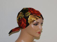 """Kopftücher - Kopftuch """"Ella"""" in schwarz, geblümt - ein Designerstück von beHUETE-dich bei DaWanda"""