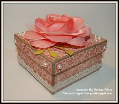 Square Shabby Gift Box. $10.00, via Etsy.