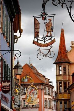 Street signs in Colmar France