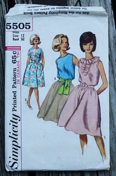 Simplicity 5505 1960s 60s Ruffled Dress by EleanorMeriwether