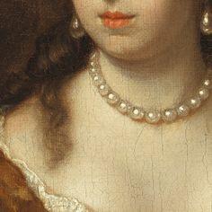 Ritratto di Cecilia la Giovane van Ellemeet. Caspar Netscher, olio su tela del 1679.
