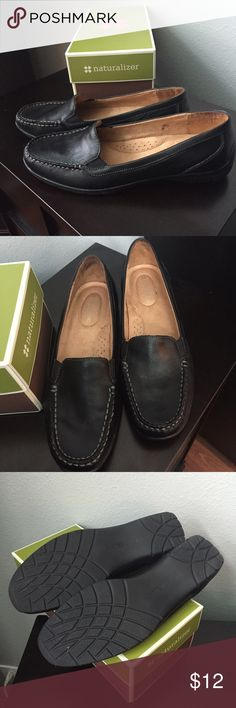 """Naturalizer black women's loafer Naturalizer black women's loafer, """"Jonella,"""" Size 8M, gently worn, in very, very good condition. Super comfy and sturdy shoe. Naturalizer Shoes Flats & Loafers"""