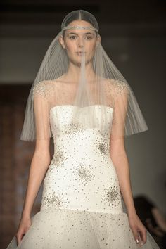 Reem Acra, Illusion Necklines, Bridal Fashion Week 2012: Top Trends From Designers' Fall 2013 Collections