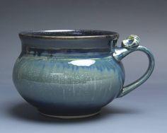 Handmade pottery soup mug ceramic chili mug cereal ice cream bowl 20 oz 3963 by BlueParrotPots on Etsy