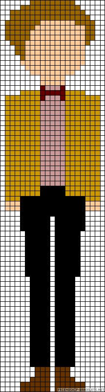 Doctor Who 11th doctor perler bead pattern