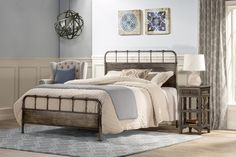 Looking to add the right mix of function, style, and character to your bedroom? By pairing the charms of vintaged style with the elements of industrial design, this statement-making bed breathes new life into any furniture collection. Its distressed details pair perfectly with weathered decor and vintaged accents while its open frames add a breezy touch to any space. Use this design to anchor a factory-inspired guest room aesthetic or to level out a crisp contemporary master suite. Pair this…