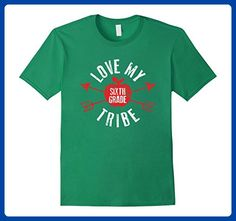 Mens Love My Tribe Shirt Sixth Grade Teacher Back to School Gift Small Kelly Green - Careers professions shirts (*Amazon Partner-Link)