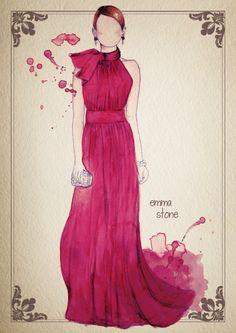 Beautiful dress, beautiful watercolor