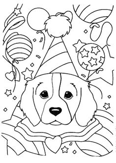 lisa frank cute dog coloring pages for older kids