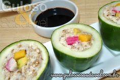 O pepino já faz parte da sua dieta? Sabe por que o pepino é tão saudável? Motivos para Consumir Mais Pepino!  Artigo aqui => http://www.gulosoesaudavel.com.br/2015/09/17/motivos-para-consumir-mais-pepino/