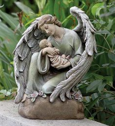 Memorial Angel with Baby -Losing a child is the worst thing ever-we miss her True grief www.adealwithGodbook.com