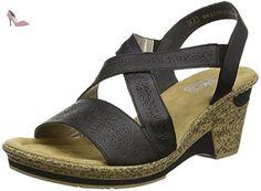 Remonte Lilli R5913/11Noir pour Femme, Noir, (11), Noir (00 Black), 40 EU - Chaussures rieker (*Partner-Link)