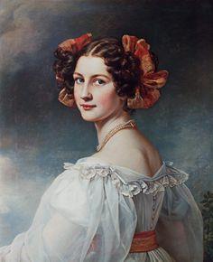Joseph Karl Stieler - Auguste Hilber, geb.Strobl Aus der Schönheitengalerie König Ludwigs I. von Bayern