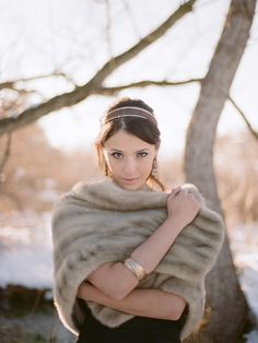 winter solitude with stole and gold accents @Jodi Miller Photography