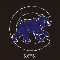 Aliexpress.com   Buy 25 Pieces Lot Chicago Cubs Baseball Iron On Rhinestone  Design Bling Bling For DIY T Shirt from Reliable iron on rhinestone  suppliers on ... 2c5917d69ae8