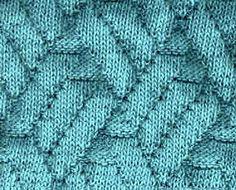 ściegi na drutach - mozaika