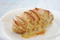 Mi Gran Diversión: Patatas hasselback con queso y bacon