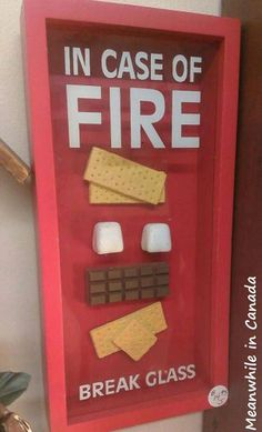 Incase of fire.
