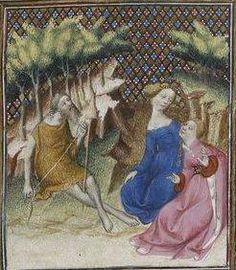 Giovanni Boccaccio, De Claris mulieribus; Paris Bibliothèque nationale de France MSS Français 598; French; 1403, 33r. http://www.europeanaregia.eu/en/manuscripts/paris-bibliotheque-nationale-france-mss-francais-598/en