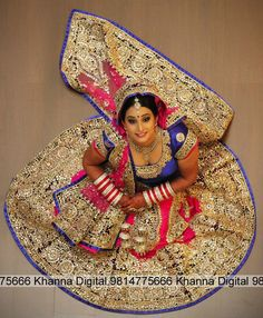 beautiful real bride with Stunning bridal lengha blue pink and gold, Khanna Digital Color Lab - Jalandhar, India - Photographic