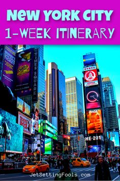 New York City One-Week Itinerary - Jetsetting Fools Usa Travel Guide, Travel Usa, Travel Guides, Travel Tips, Cool Pictures, Cool Photos, New York City Travel, Us Road Trip, Travel Articles