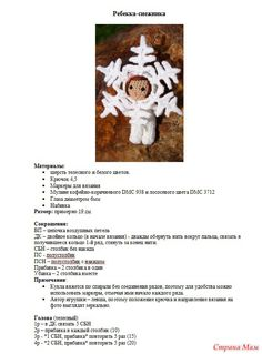 Toys and other Handicrafts Юлии Yarnykh. Christmas Crafts, Christmas Decorations, Xmas, Christmas Ornaments, Doll Patterns, Crochet Patterns, Crochet Ornaments, Craft Accessories, Amigurumi Toys