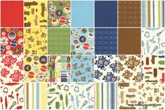 Milk Cow Kitchen Charm Pack - Mary Jane - Moda Fabrics