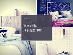 11 projets pour une tête de lit facile à réaliser pour un maxi effet ! DIY  à vos matelas ! Diy And Crafts, Arts And Crafts, Diy Bed, Home Deco, Bedroom, Homeland, Interiors, Ideas, Diy Home