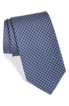 Men's Salvatore Ferragamo Gancini Print Silk Tie Tie And Pocket Square, Pocket Squares, Formal Tie, Tie Crafts, Salvatore Ferragamo Shoes, Tie Shoes, Outfit Combinations, Suit And Tie, Silk Ties