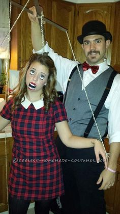 32 DIY Ideas for Creative Couples Halloween Costumes - Couples Halloween Costume – Puppet and Puppeteer