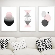 Us 956 41 Off 3 Pieces Geometric Graphic Aesthetic Simple Decorative Canvas Painting Modern Wall Art For Living Room Home Decor In Painting Amp Living Room Canvas Painting, Abstract Canvas Wall Art, Living Room Art, Wall Canvas, Canvas Prints, Black And White Picture Wall, Black White, Image Deco, Geometric Graphic