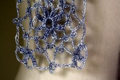 Silver crocheted lace