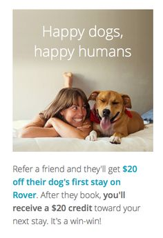 create a profile - become a dog sitter/walker/visitor... Rover.com