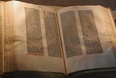 Gutenberg Bible, the first printed Bible.