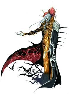 """Various designs for Dracula used throughout the """"Castlevania"""" video game series."""