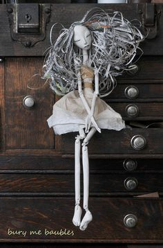 N+negates+Neomah...Ooak+Paper+Art+Doll+by+burymebaubles+on+Etsy