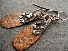 PORTUGAL- handmade mixed metal earrings () by livewirejewelrysb - handmade - jewelry - jewellery - artisan - etsy