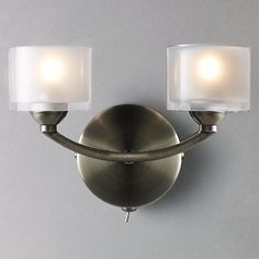 ca7f8f2b1ae1 Buy John Lewis Paige Double Wall Light Online at johnlewis.com Hanging  Lights, Wall