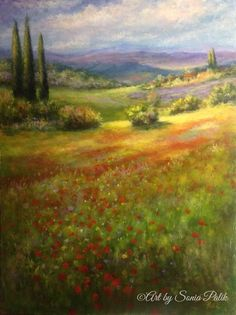 "Under The Tuscan Sun Acrylic 24"" x 18"" www.soniapalilk.com"