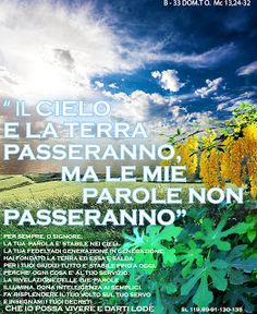 PAROLA Anno Liturgico B: B- 33 DOM.T.O.