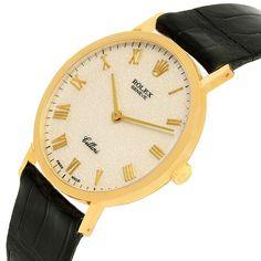 13764 Rolex Cellini Classic 18k Yellow Gold Ivory Anniversary Dial Watch 4112 SwissWatchExpo