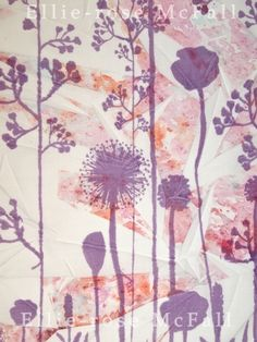 Ellie-rose McFall- Hand printed sample for my FM, with a heat press transfer background to create a cracked surface Heat Press, The Past, Surface, Printed, Create, Rose, Projects, Painting, Art